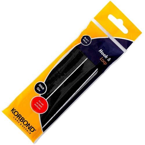Loop And Hook >> Siesta Frames Limited Hook & Loop Stick On Black 2cm x 50cm