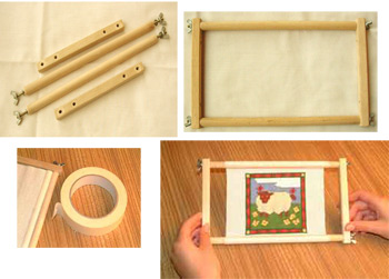 """Siesta Bar Frames Silk Painting Cross Stitch Embroidery  Sizes 14/"""" to 20/"""""""