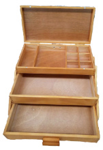 Wooden Cantilever Storage Box.